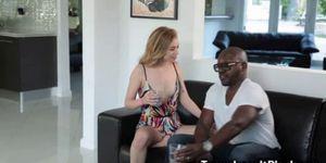 Big Black Cock Destroys a Skinny Teen
