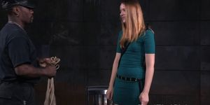 Tiedup sub dominated over by black dom