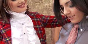 ELEGANT RAW - European lesbian glambabe assfingered closeup