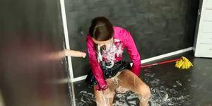 Messy wet slime shower bukkake - video 1