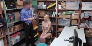 Flawless blonde Carmen punished for shoplifting (Carmen Callaway)