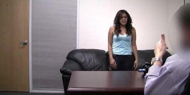 Couch backroom megan casting Megan